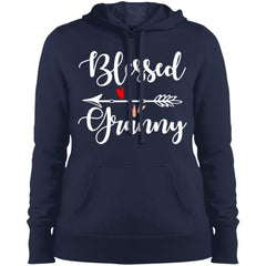 Blessed Granny Shirt - Mothers Day Gift For Granny True Navy Ladies Pullover Hooded Sweatshirt Ladies Pullover Hooded Sweatshirt - PresentTees