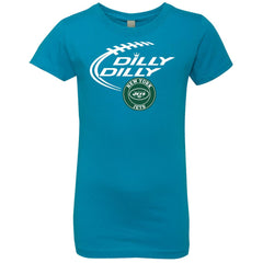 Dilly Dilly New York Jets Girls Princess T-Shirt Girls Princess T-Shirt - PresentTees