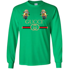 Gucci T-shirt Minion Funny Film Men Long Sleeve Shirt Men Long Sleeve Shirt - PresentTees