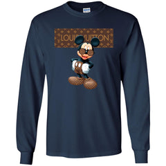 Best Louis Vuitton Mickey Mouse Shirt Men Long Sleeve Shirt Men Long Sleeve Shirt - PresentTees
