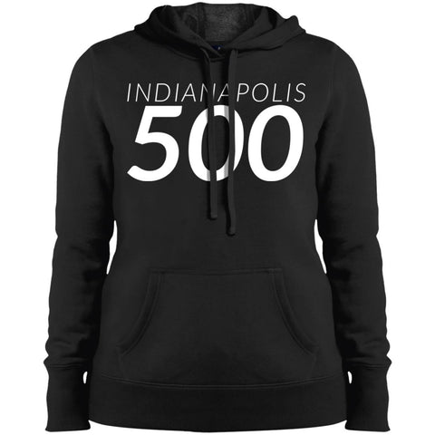 Indianapolis Shirt - Indy 500 Ladies Pullover Hooded Sweatshirt Black / X-Small Ladies Pullover Hooded Sweatshirt - PresentTees