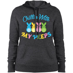 Chillin With My Peeps Bunny Easter Women Hooded Sweatshirt