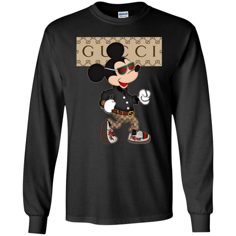 64a75bd5 Gucci Shirt Mickey Mouse 2018 Men Long Sleeve Shirt Black / S Men Long  Sleeve Shirt