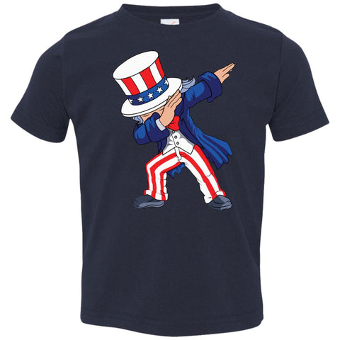 Dabbing Uncle Sam Shirt 4th Of July Independence T Shirt Toddler Jersey T-Shirt Navy / 2T Toddler Jersey T-Shirt - PresentTees