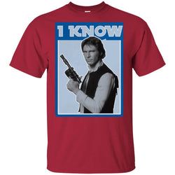 Star Wars Han Solo Iconic Unscripted I Know Graphic Youth Cotton T-Shirt
