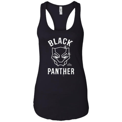 Marvel Black Panther Mask T Shirt Black / X-Small Ladies Racerback Tank - PresentTees
