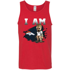 Denver Broncos I Am Groot Men Cotton Tank Men Cotton Tank - PresentTees
