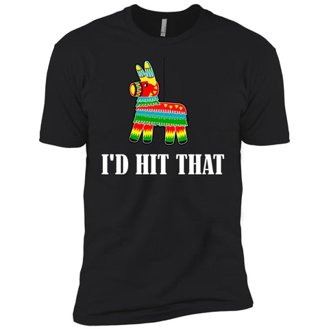 I'd Hit That Pinata T-shirt - Cinco De Mayo Pinata Shirts Black / YXS Boys Cotton T-Shirt - PresentTees