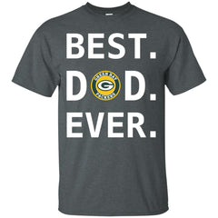 Best Green Bay Packers Dad Ever Fathers Day Shirt Mens Cotton T-Shirt Mens Cotton T-Shirt - PresentTees