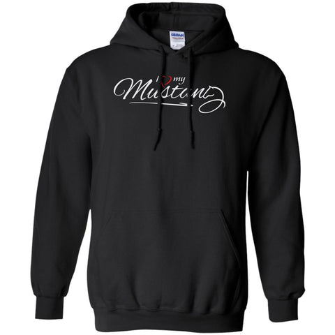 I Love My Mustang Shirt - Wild Horse Lovers T Shirt Black / Small Pullover Hoodie 8 oz - PresentTees