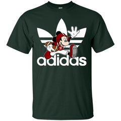 Adidas American Football Disney Mickey Mouse T Shirt Mens Cotton T-Shirt - PresentTees