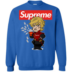 Supreme Tyrion Game Of Thrones T-shirt Crewneck Pullover Sweatshirt Crewneck Pullover Sweatshirt - PresentTees