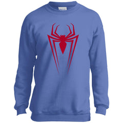 Marvel Spider Man Icon Graphic Youth Crewneck Sweatshirt Youth Crewneck Sweatshirt - PresentTees