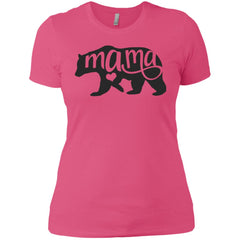 Mama Bear Shirt - Mothers Day Or Birthday  Gift For Mommy And Grandma Hot Pink Ladies Boyfriend T-Shirt Ladies Boyfriend T-Shirt - PresentTees