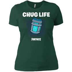 Fortnite Chug Life T-shirt Women Cotton T-Shirt
