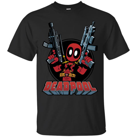 Marvel Deadpool Big Guns Mens Cotton T-Shirt Black / S Mens Cotton T-Shirt - PresentTees