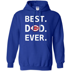 Best Cincinnati Reds Dad Ever Baseball Fathers Day Shirt Mens Pullover Hoodie Mens Pullover Hoodie - PresentTees
