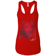 Marvel Spider Man Shirt Homecoming Web Logo Ladies Racerback Tank Ladies Racerback Tank - PresentTees