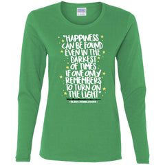 Harry Potter Happiness Can Be Found T Shirt, Ladies Long Sleeve Shirt Ladies Long Sleeve Shirt - PresentTees
