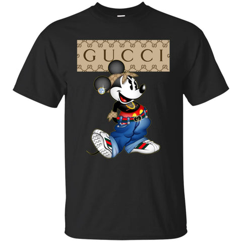 Gucci Mickey Mouse Trending T-shirt Men Cotton T-Shirt Black / S Men Cotton T-Shirt - PresentTees