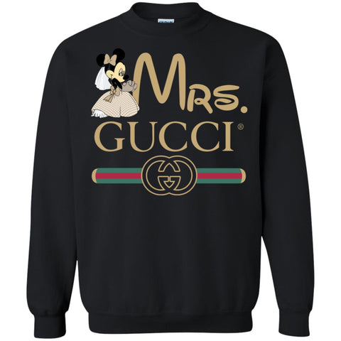 Gucci Couple Disney Minnie Valentine's Day 2018 T-shirt Crewneck Pullover Sweatshirt Black / S Crewneck Pullover Sweatshirt - PresentTees