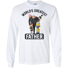 Despicable Me World's Greatest Father Gru Funny Fathers Day Gift Mens Long Sleeve Shirt Mens Long Sleeve Shirt - PresentTees