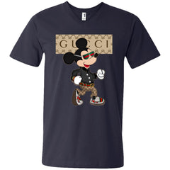 Gucci Shirt Mickey Mouse 2018 Men V-Neck T-Shirt Men V-Neck T-Shirt - PresentTees