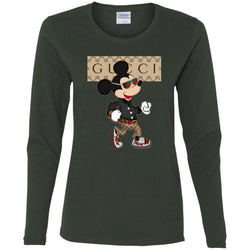 Gucci Shirt Mickey Mouse 2018 Women Long Sleeve Shirt