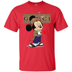 Couple Gucci Mickey Tshirt Valentine's Day Men Cotton T-Shirt Men Cotton T-Shirt - PresentTees