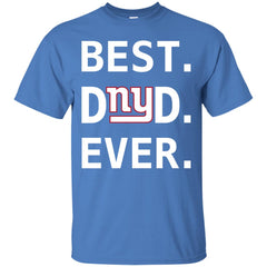 New York Giants Dad Best Dad Ever Fathers Day Shirt Mens Cotton T-Shirt Mens Cotton T-Shirt - PresentTees