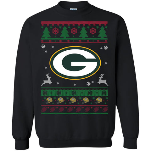 Green Bay Packers Logo Nfl Football Ugly Christmas Sweater Presenttees