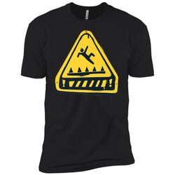 Fortnite Trap Warning T-shirt Men Short Sleeve T-Shirt