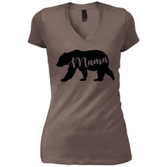 Mama Bear T- Shirt - Mothers Day Or Birthday Gift For Womens Warm Grey Womens V-Neck T-Shirt Womens V-Neck T-Shirt - PresentTees