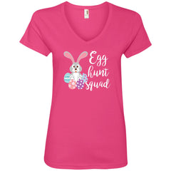 Egg Hunt Squad Easter Day T Shirt For Men And Women Ladies V-Neck T-Shirt - PresentTees