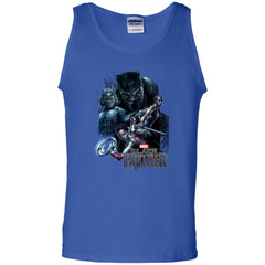 Marvel Black Panther Movie Okoye Nakia Group T-shirt Mens Cotton Tank Top - PresentTees