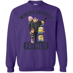 Despicable Me World's Greatest Father Gru Funny Fathers Day Gift Crewneck Pullover Sweatshirt Crewneck Pullover Sweatshirt - PresentTees