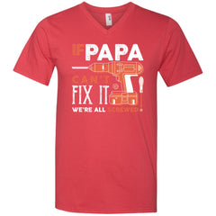 If Papa Cant Fix It Shirt For Fathers Day Mens V-Neck T-Shirt Mens V-Neck T-Shirt - PresentTees