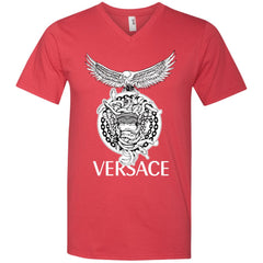 Versace Supervip Logo T-shirt Men V-Neck T-Shirt Men V-Neck T-Shirt - PresentTees