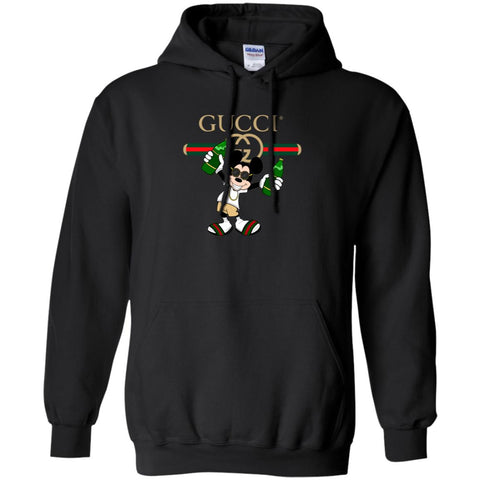 Gucci Mickey Mouse Drink Beer T-shirt Pullover Hoodie Sweatshirt Black / S Pullover Hoodie Sweatshirt - PresentTees