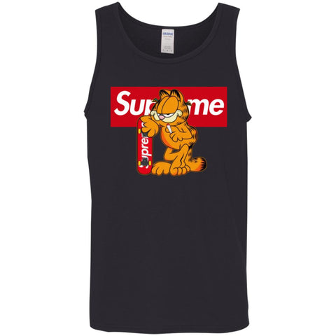 Supreme Tiger T-shirt Men Cotton Tank Black / X-Small Men Cotton Tank - PresentTees