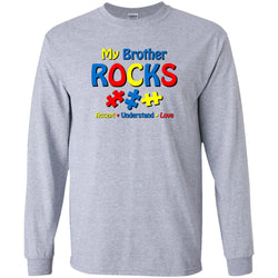 Autistic Brother Rocks - I Love My Autism Brother Shirt