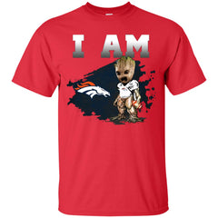 Denver Broncos I Am Groot Men Cotton T-Shirt Men Cotton T-Shirt - PresentTees