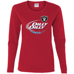 Oakland Raiders Dilly Dilly Oak Nfl Ladies Long Sleeve Shirt Ladies Long Sleeve Shirt - PresentTees