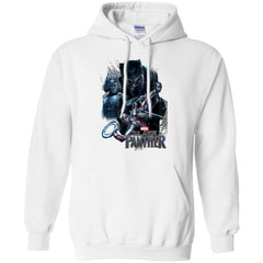 Marvel Black Panther Movie Okoye Nakia Group T-shirt Pullover Hoodie 8 oz - PresentTees