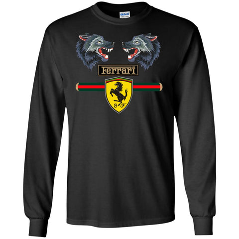Gucci Ferrari 2018 T-shirt Men Long Sleeve Shirt Black / S Men Long Sleeve Shirt - PresentTees