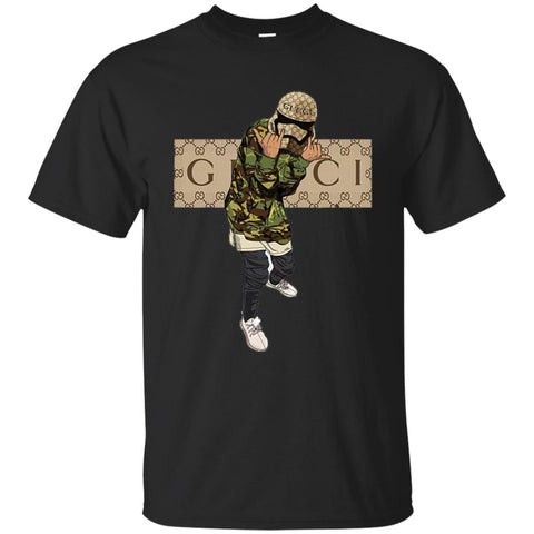 Gucci Gang Hiphop T-shirt Men Cotton T-Shirt Black / S Men Cotton T-Shirt - PresentTees