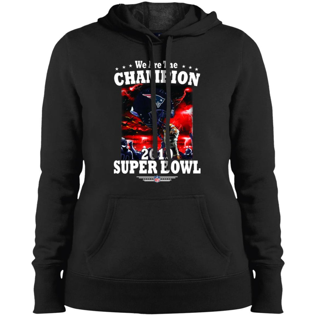 Nfl – New England Patriots We Are The Champion 2019 Super Bowl Football  Women Hooded Sweatshirt e65405bf0