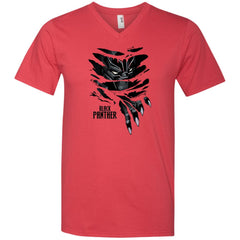 Marvel Black Panther Breaks Through T Shirt Mens V-Neck T-Shirt - PresentTees