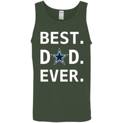 Dallas Cowboys Dad Best Dad Ever Fathers Day Shirt Mens Tank Top Mens Tank Top - PresentTees