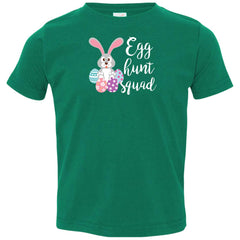 Kid's Egg Hunt Squad Easter Day Youth T Shirt Toddler Jersey T-Shirt - PresentTees